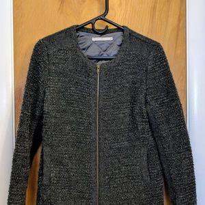 EMU Australia Padded Zip Grey Blazer NWOT